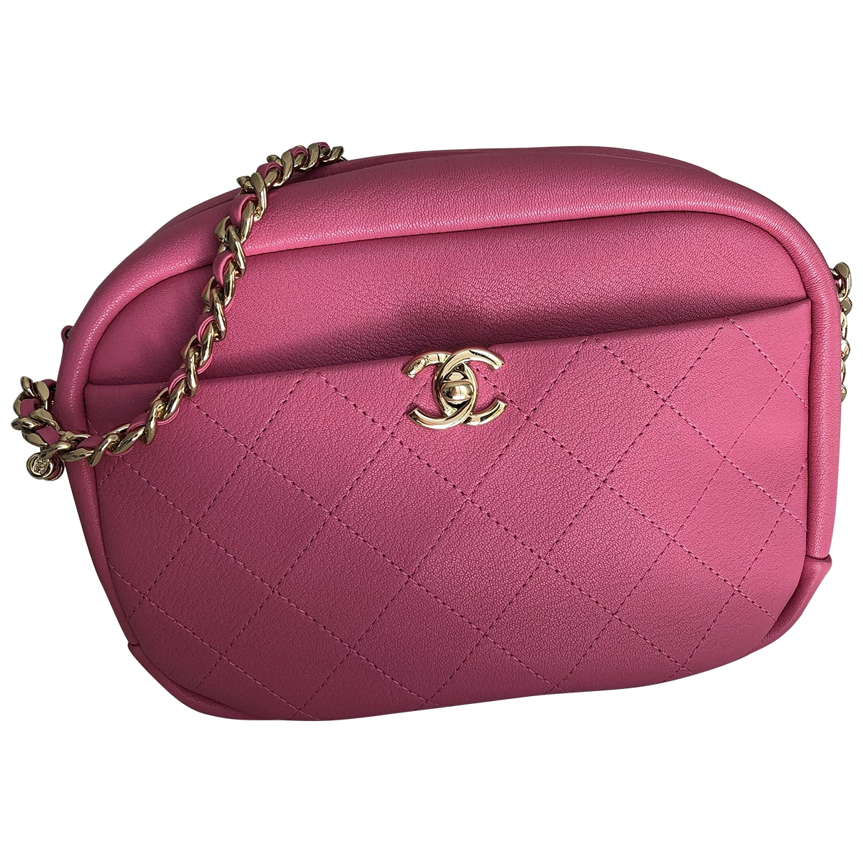 Chanel Camera Pink Leather handbag for Women \N
