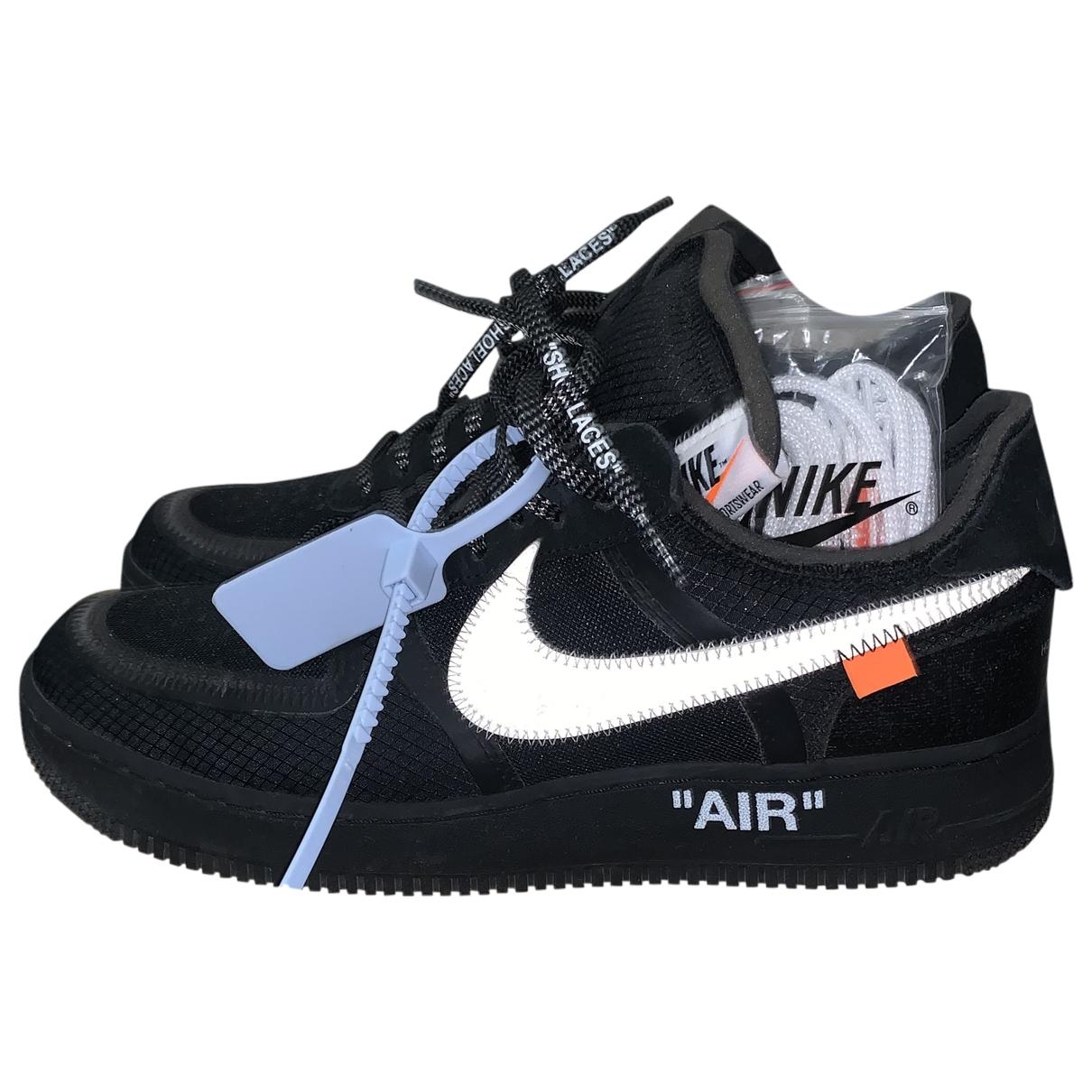 Nike X Off-white - Baskets Air Force 1 pour homme en cuir - noir