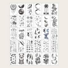 30 hojas tatuaje con patron de animal