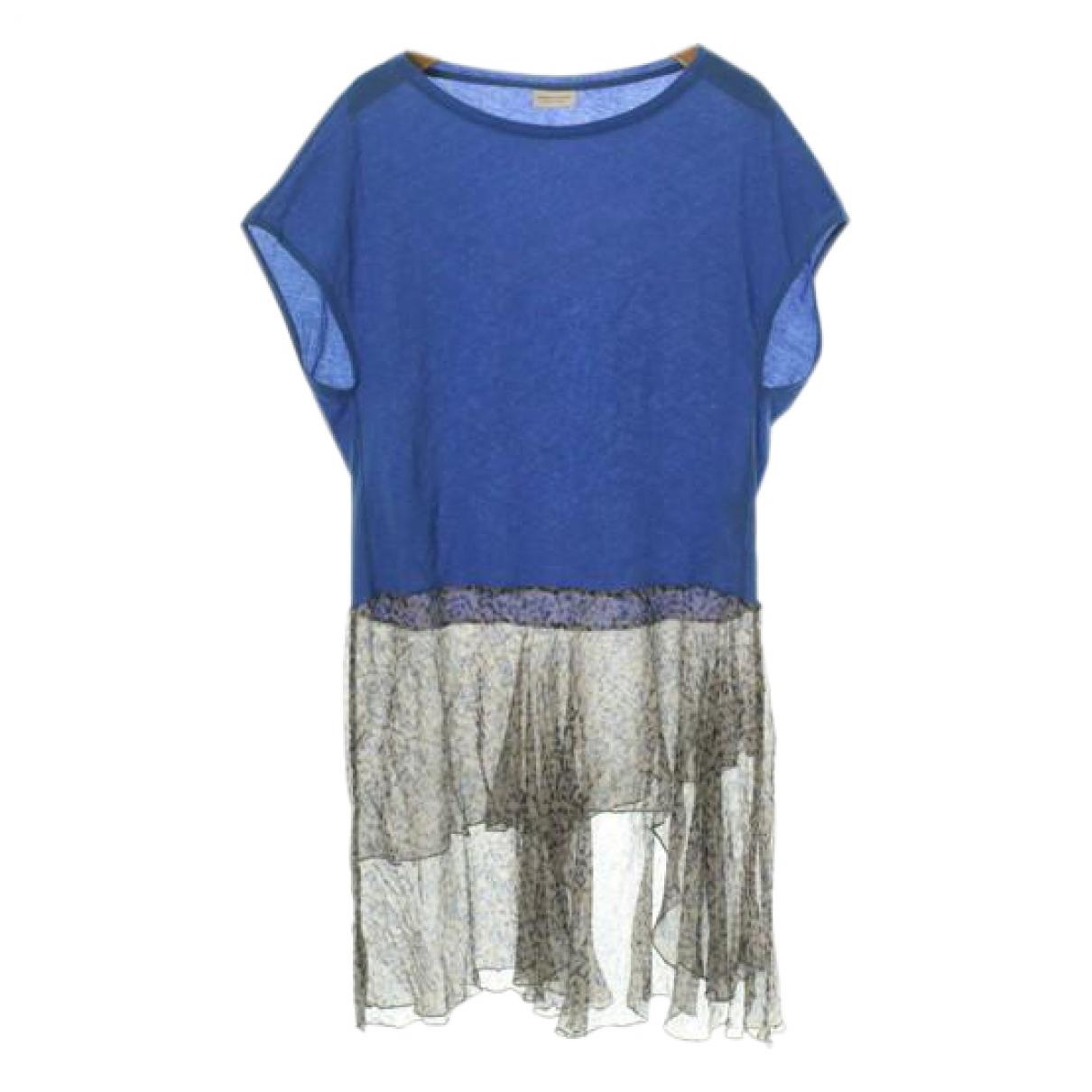 Dries Van Noten \N Kleid in  Blau Baumwolle