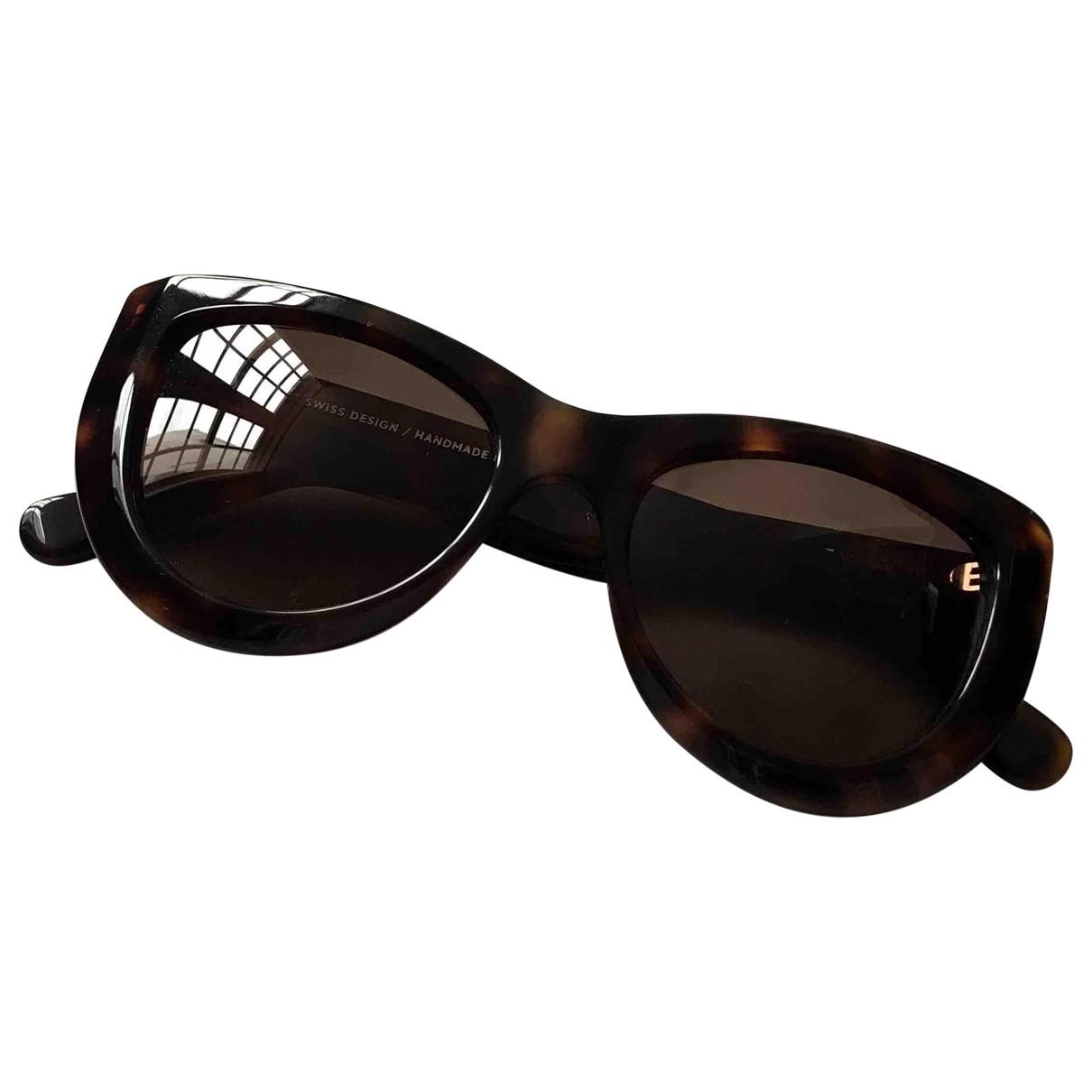 Closed \N Brown Sunglasses for Women \N