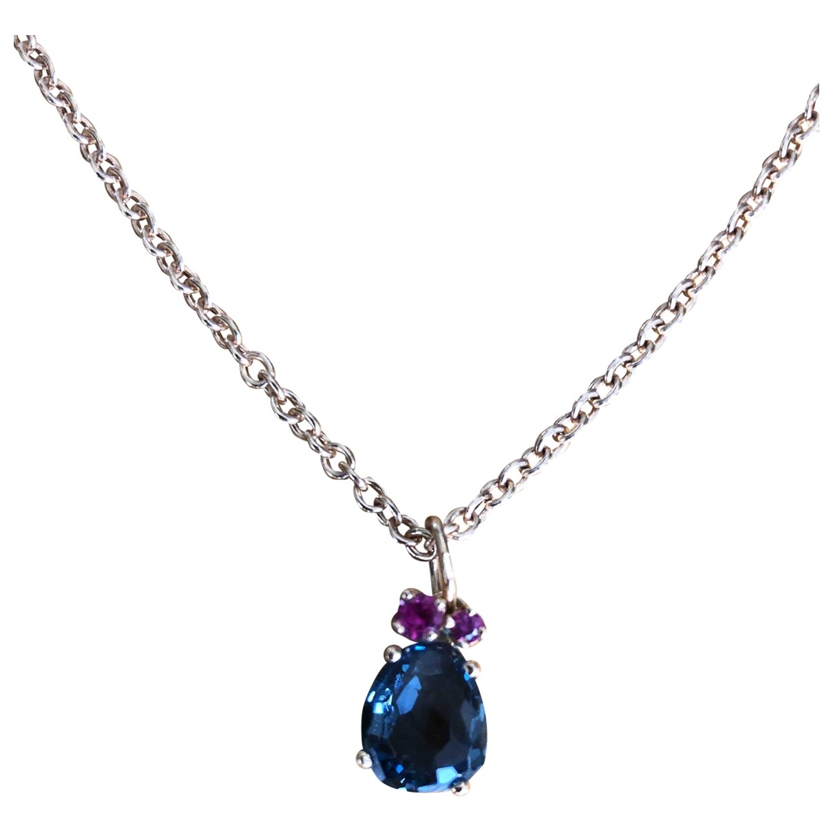 Pomellato \N Silver Pink gold necklace for Women \N