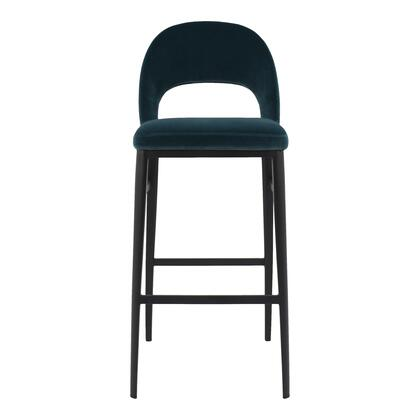Roger Collection EJ-1037-36 Bar Stool with Steel Legs in Blue