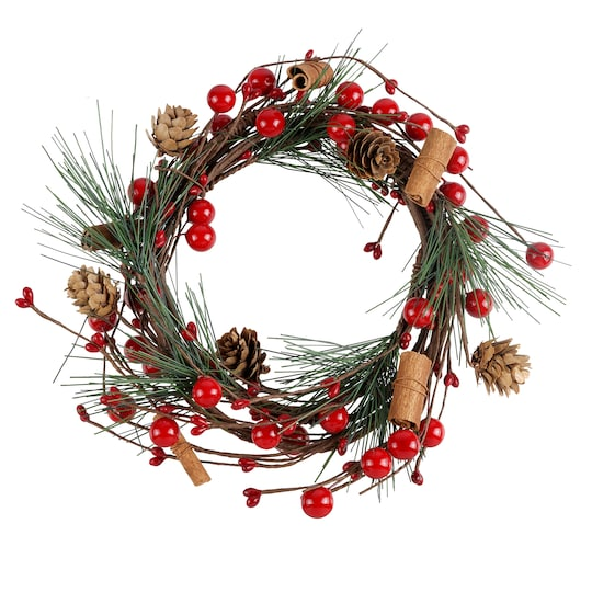 5Ft Pine & Holly Berry Coiled Garland By Ashland® Christmas | Michaels®