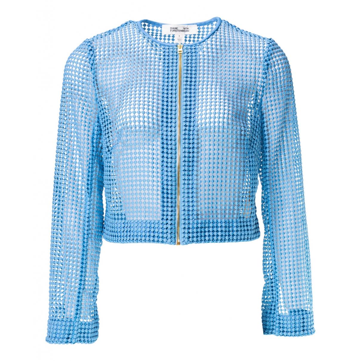 Diane Von Furstenberg N Blue jacket for Women 8 US