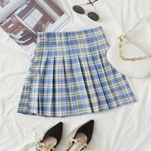 Tartan Mini Pleated Skirt
