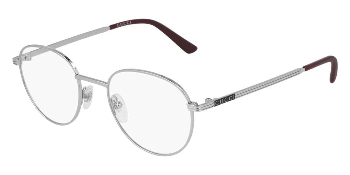 Gucci GG0835O 003 Men's Glasses Silver Size 48 - Free Lenses - HSA/FSA Insurance - Blue Light Block Available