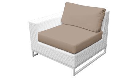 Miami TKC047b-RAS-WHEAT Right Arm Chair - Sail White and Wheat