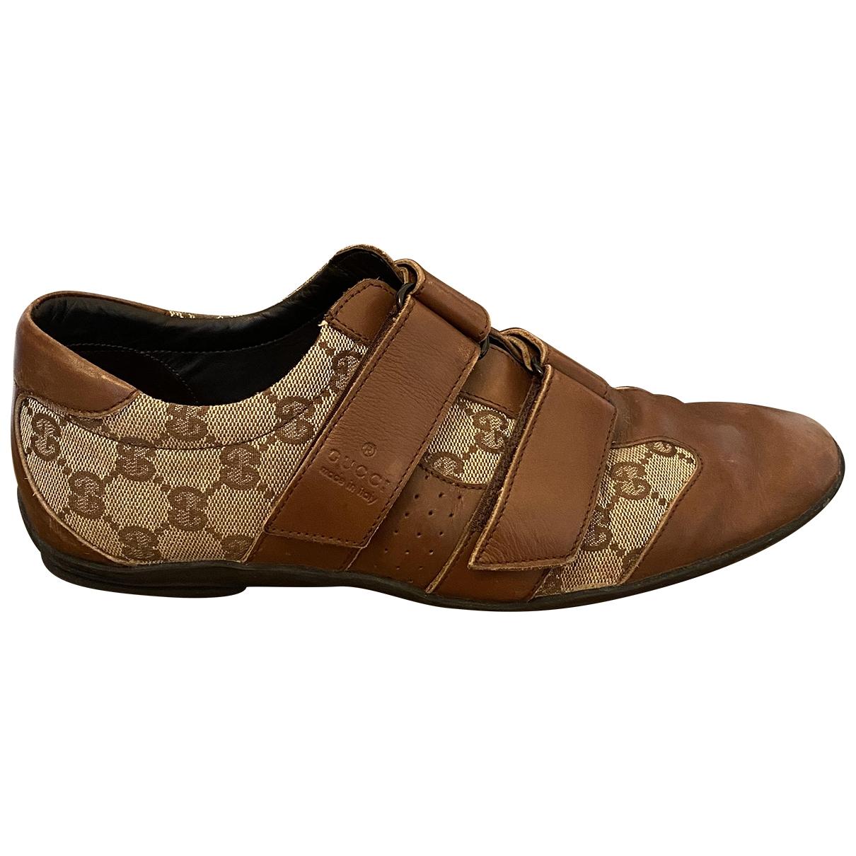 Gucci - Baskets   pour homme en toile - beige