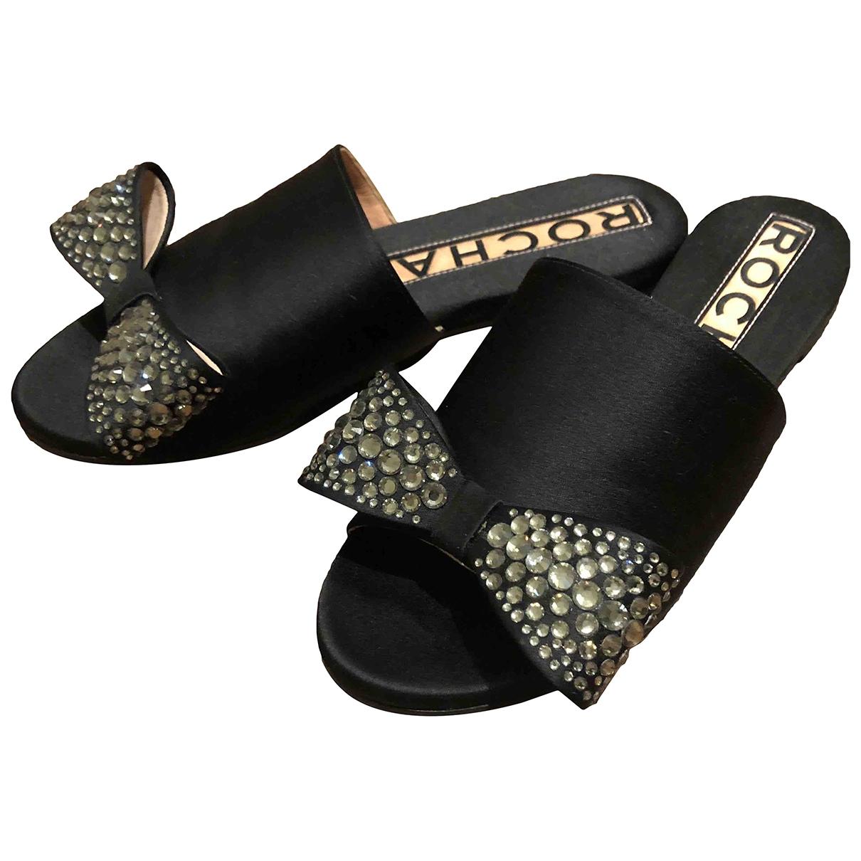 Rochas - Sandales   pour femme en cuir - noir