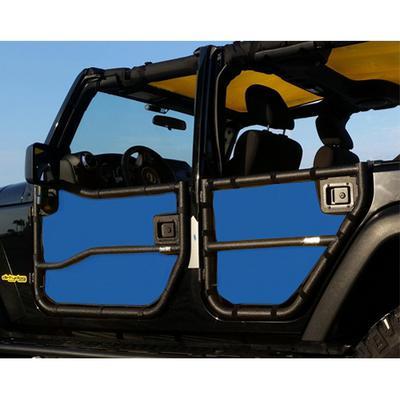 DirtyDog 4x4 Door Screens for Rugged Ridge Tube Doors (Blue) - J4TS07RRBL