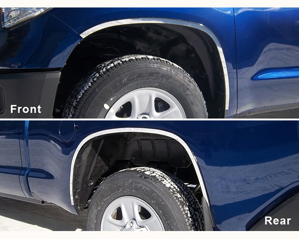 Quality Automotive Accessories 4-Piece Stainless Steel Wheel Well Fender Trim Kit Toyota Tundra 2014