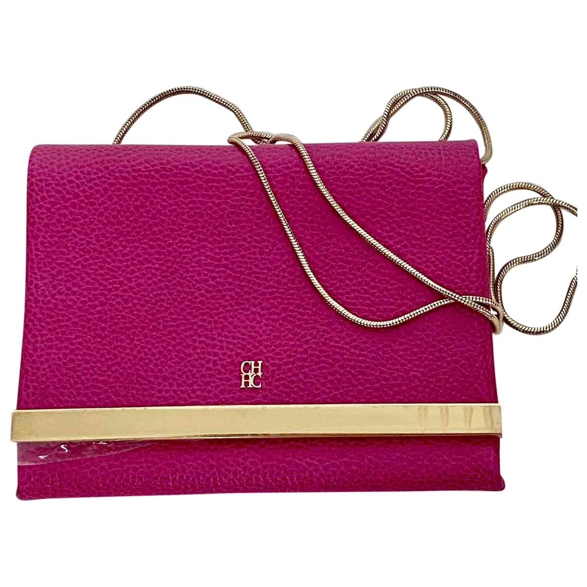Carolina Herrera \N Pink Leather Clutch bag for Women \N