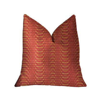 New Earth Ripple Collection PBRA2208-1818-DP Double sided  18 x 18 Plutus New Earth Ripple Red Luxury Throw