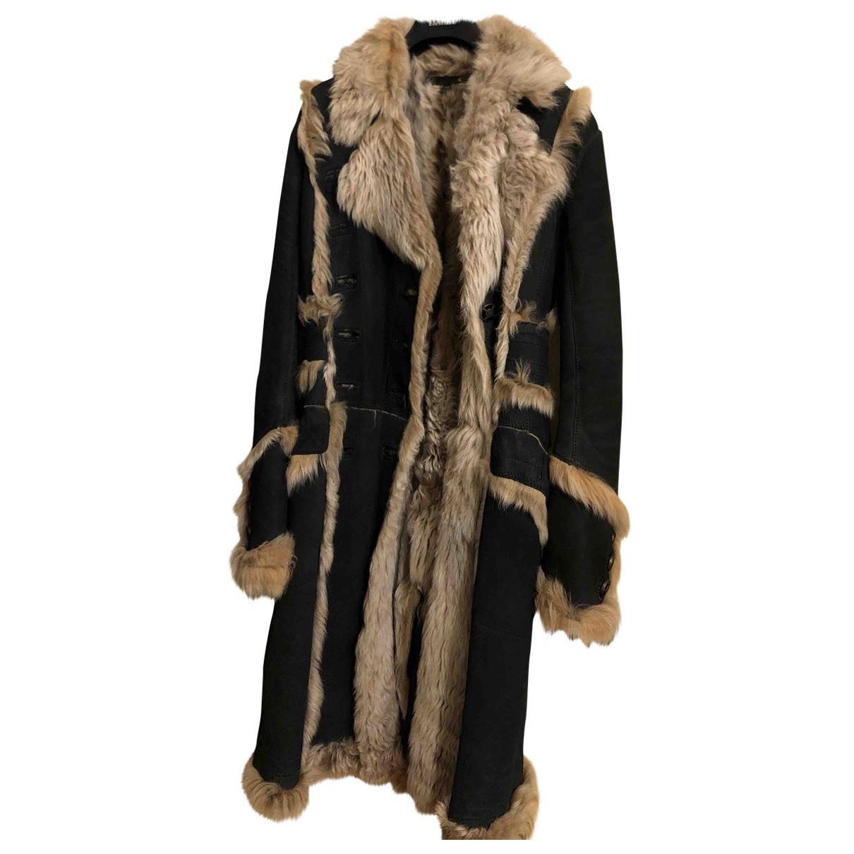 Just Cavalli - Manteau   pour femme en mouton - anthracite