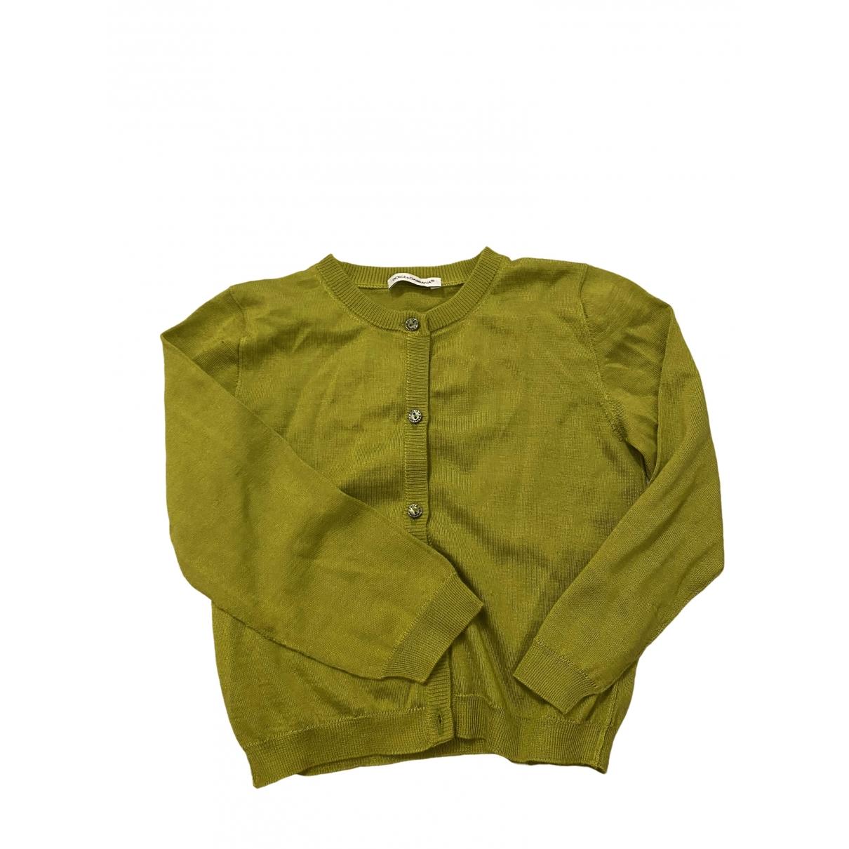 Dolce & Gabbana - Pull   pour enfant en soie - vert