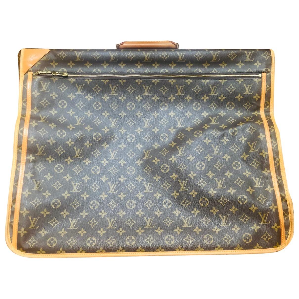 Louis Vuitton Garment Reisetasche in  Braun Leinen