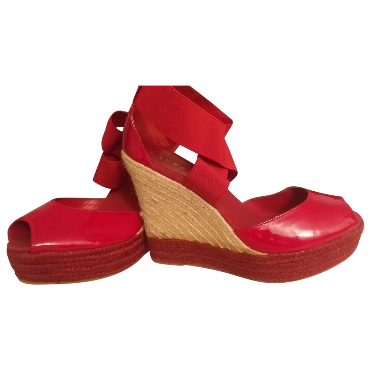 Lauren Ralph Lauren N Red Patent leather Heels for Women 39 EU