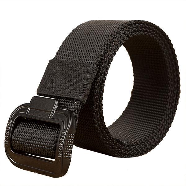 135CM Men Women Alloy Buckle Belt Military Waistband Casual Outdoor Sport Pants Strip