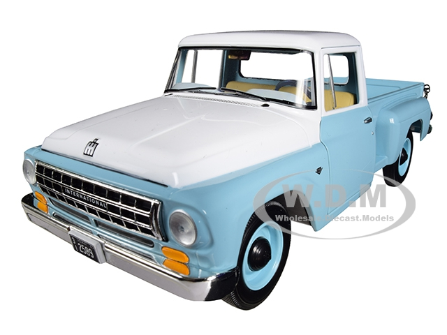 International C1100 Pickup Truck Seascape Blue with White Top 1/25 Diecast Model Car by First Gear