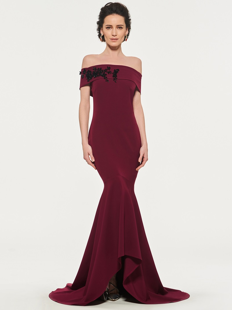 Ericdress Off The Shoulder Mermaid Evenining Dress With Applique