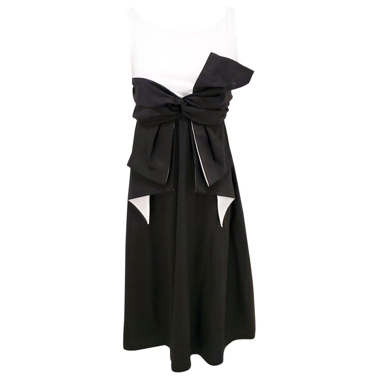 Paule Ka \N Black Cotton - elasthane dress for Women 36 FR