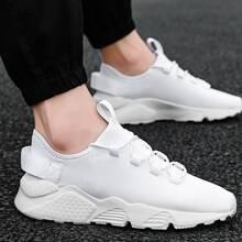 Zapatillas deportivas de hombres tejidas con cordon