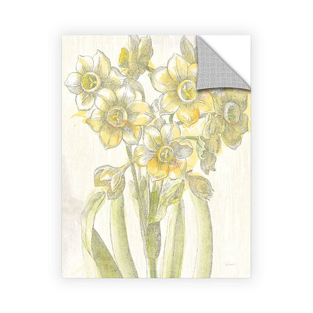Brushstone Belle Fleur Yellow IV Crop Removable Wall Decal, One Size , White
