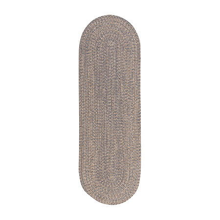 Colonial Mills American Tweed Braided Oval Reversible Indoor Rugs, One Size , Gray