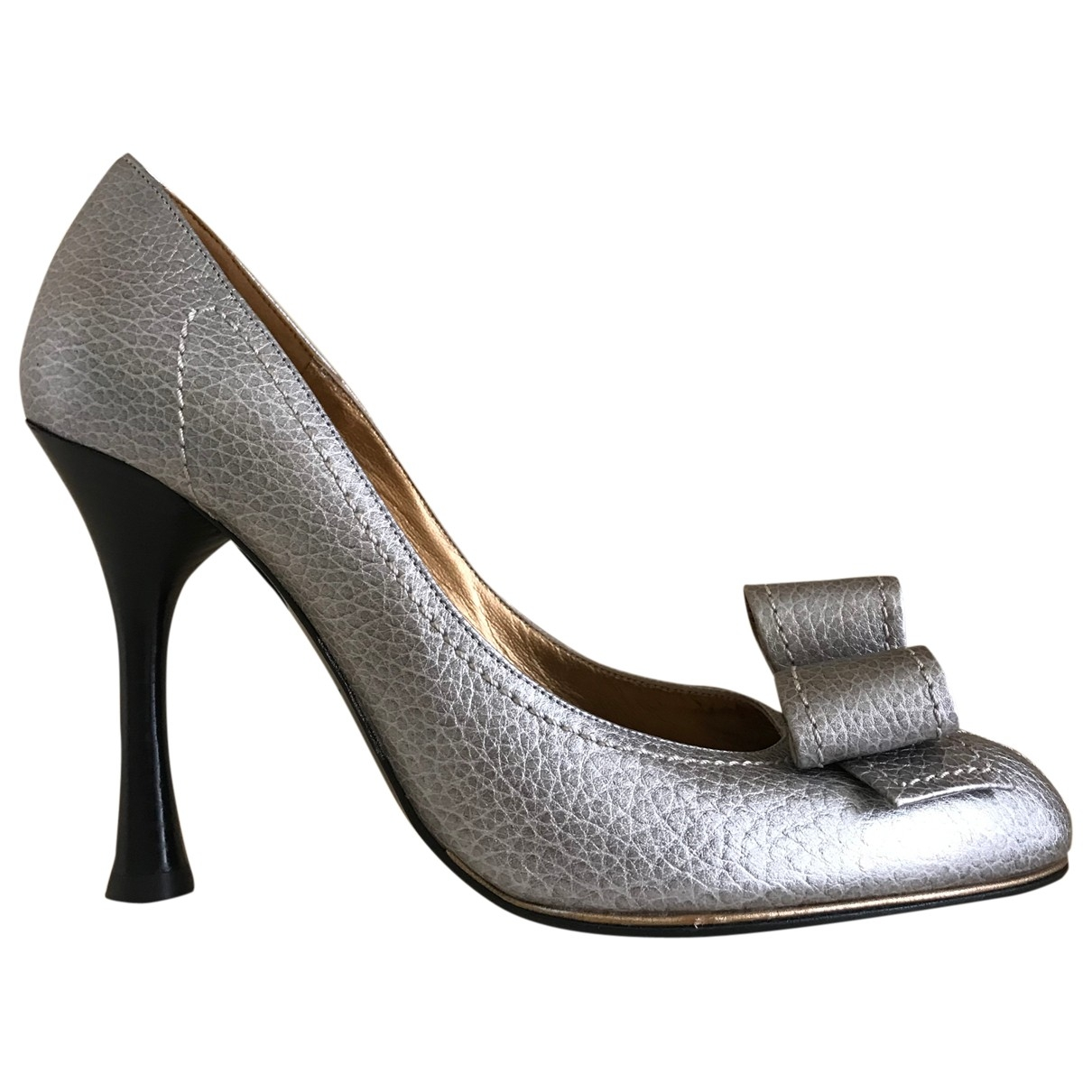 Charles Jourdan \N Silver Leather Heels for Women 39 EU