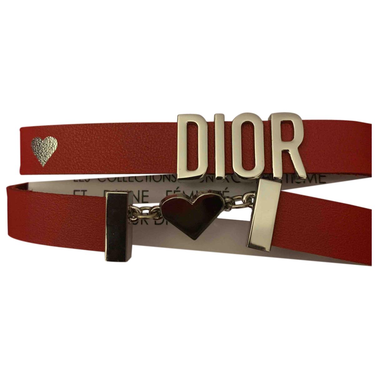 Dior \N Kette in  Rot Leder