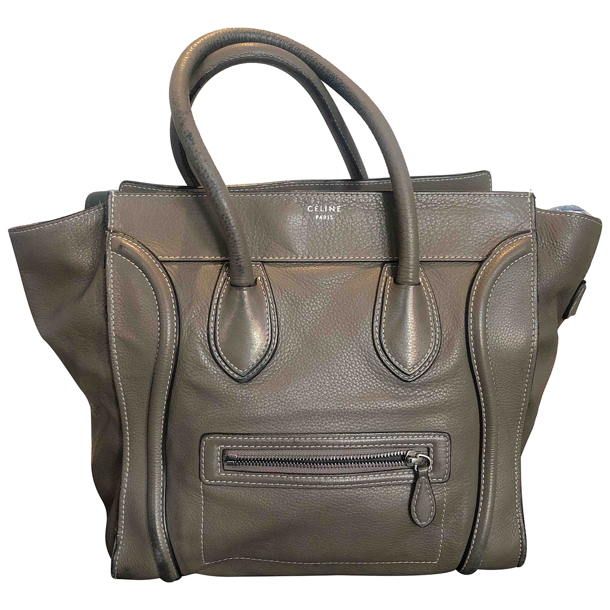 Celine Luggage Grey Leather handbag for Women \N