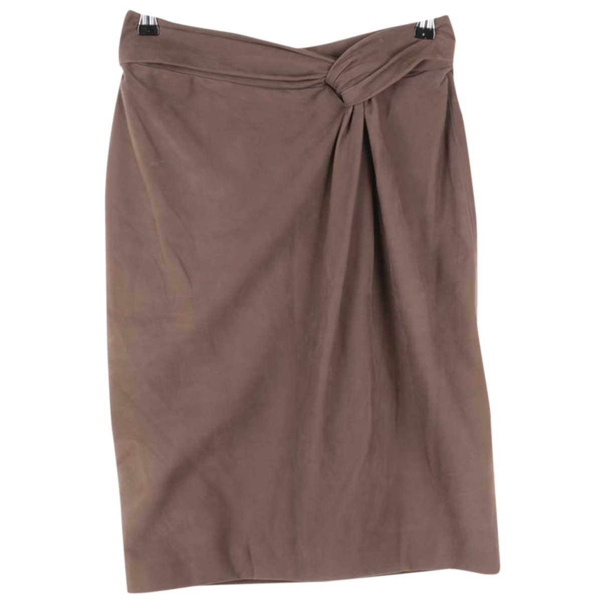 Gucci N Grey Leather skirt for Women 36 FR