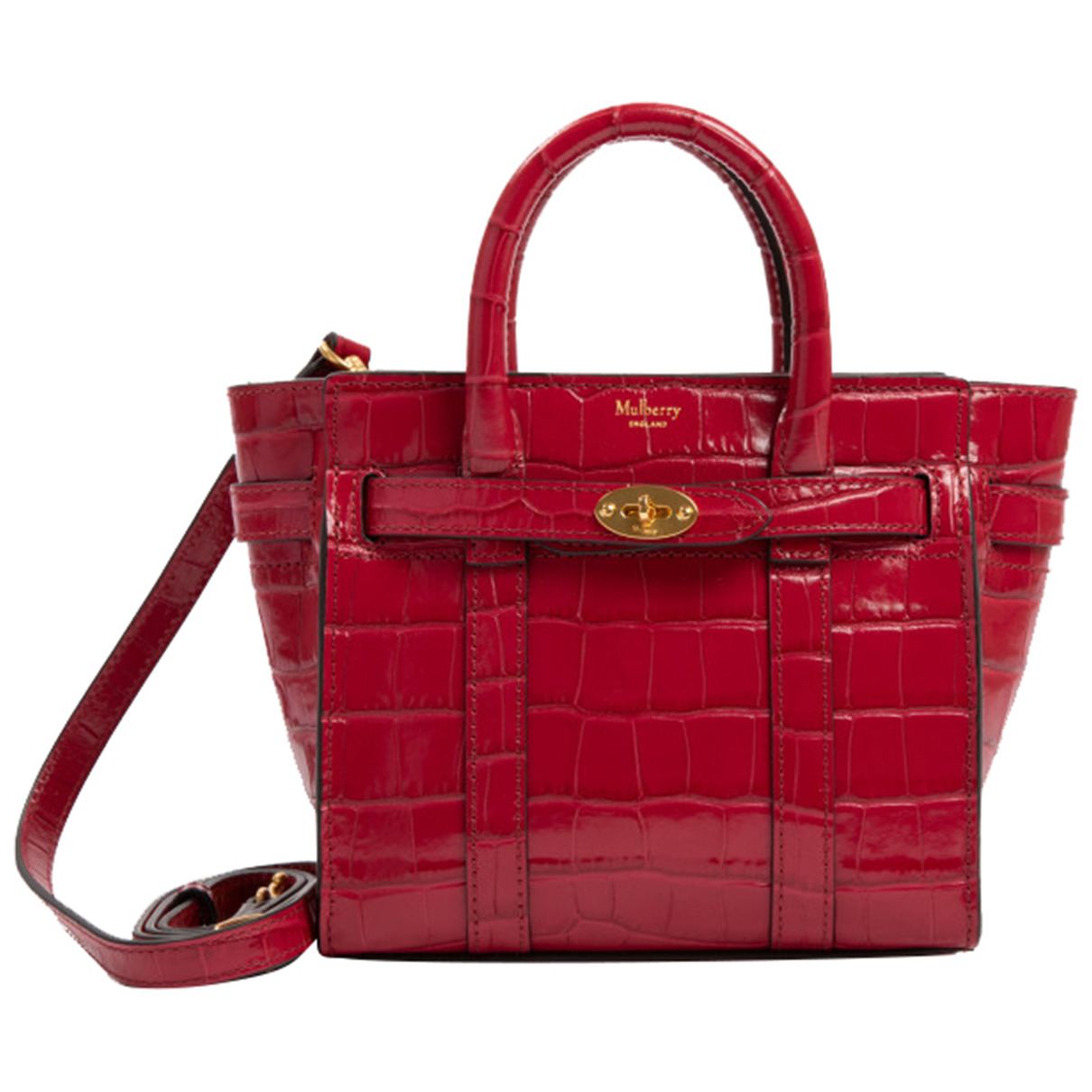 Mulberry Bayswater Small Red Leather handbag for Women \N