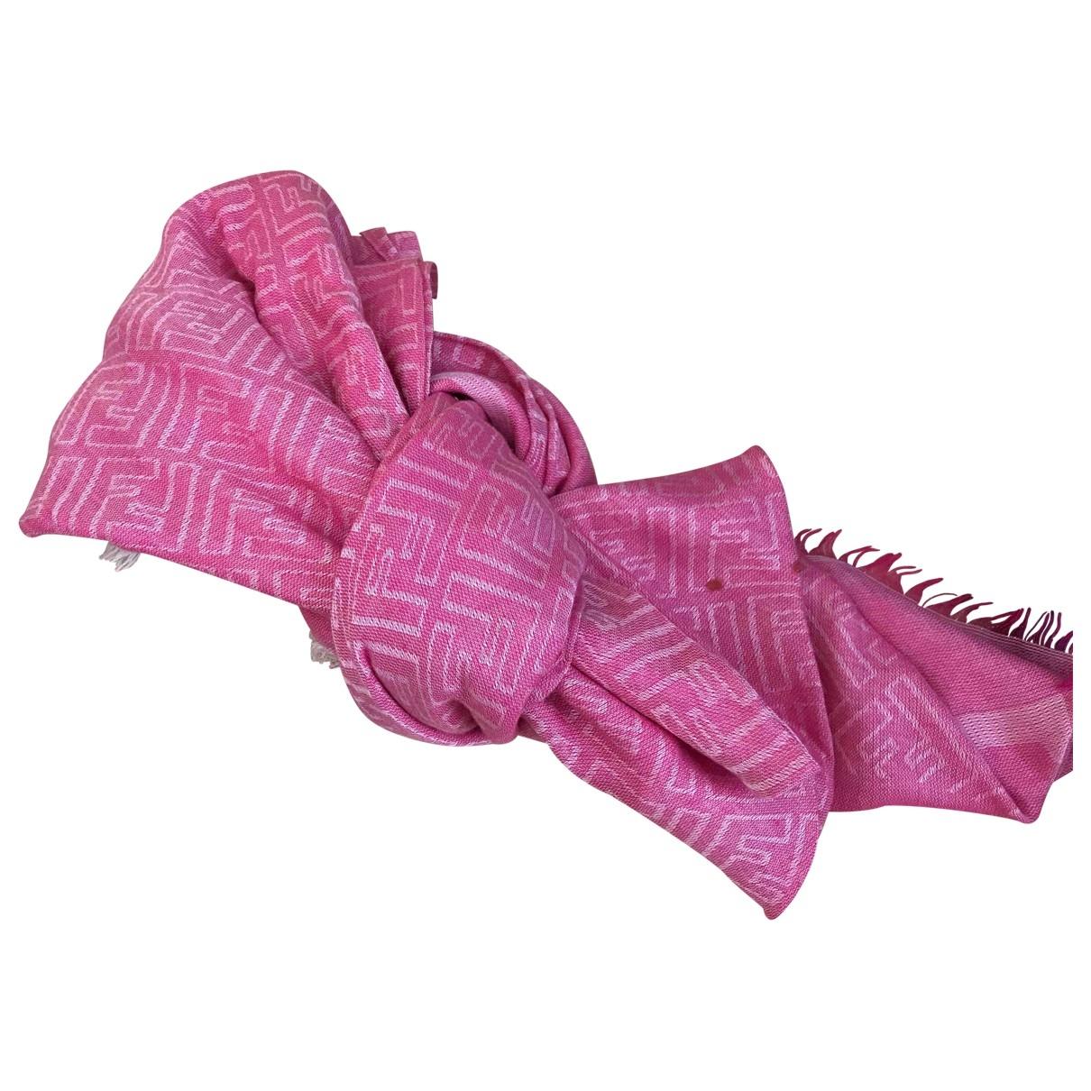 Fendi - Foulard   pour femme en coton - rose