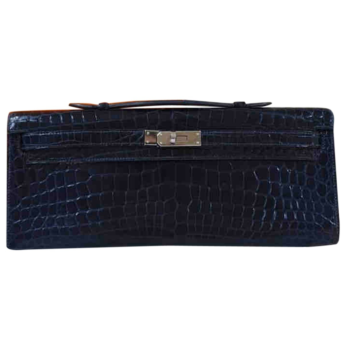 Hermès Kelly Cut Clutch Navy Alligator Clutch bag for Women N