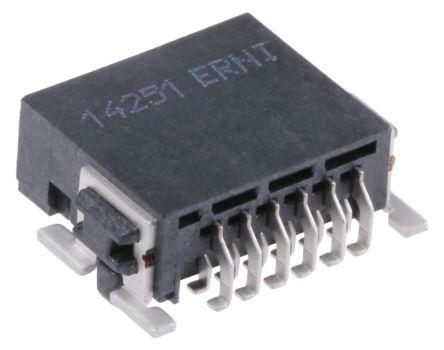 ERNI , SMC, 12 Way, 2 Row, Right Angle PCB Header