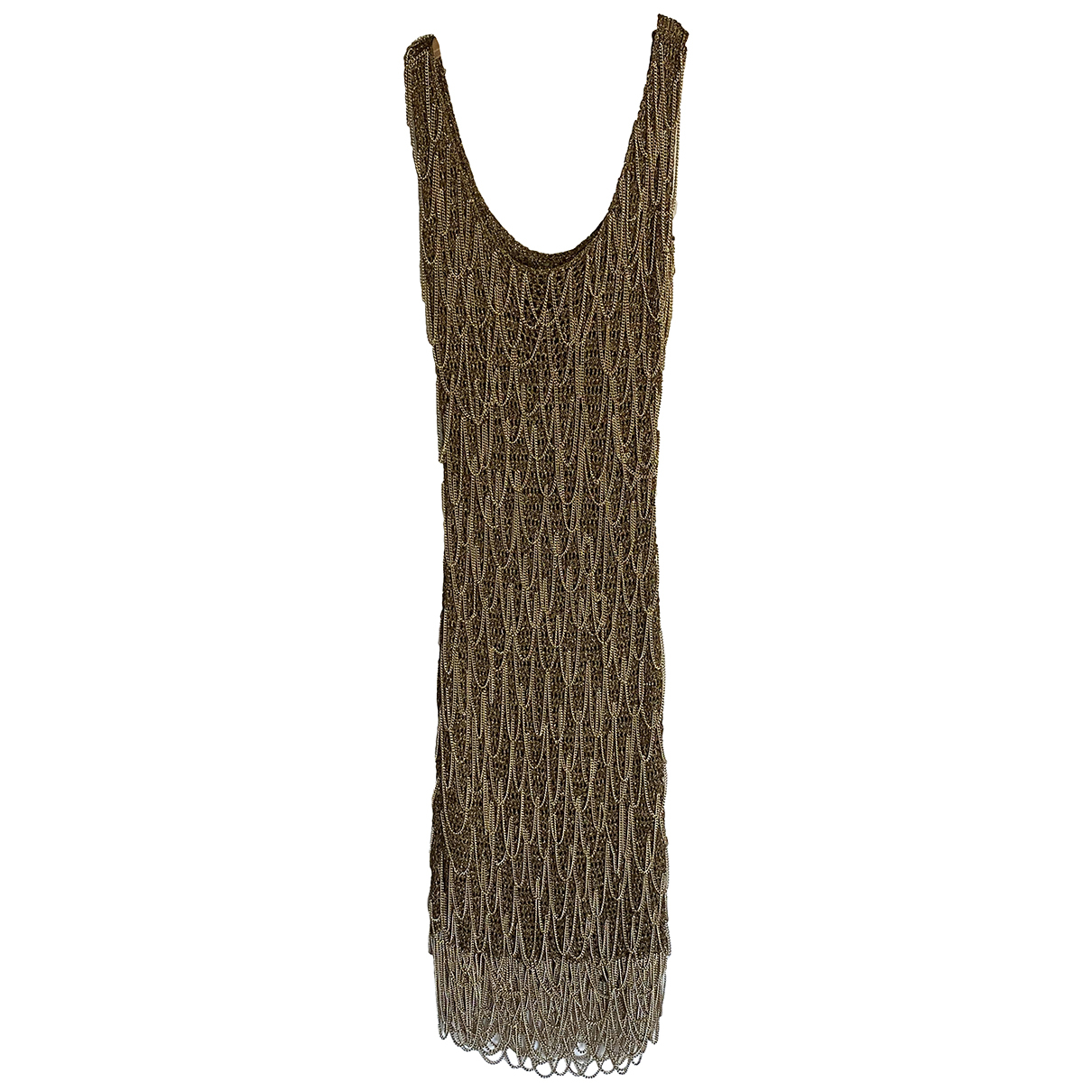 Salvatore Ferragamo - Robe   pour femme en a paillettes - dore