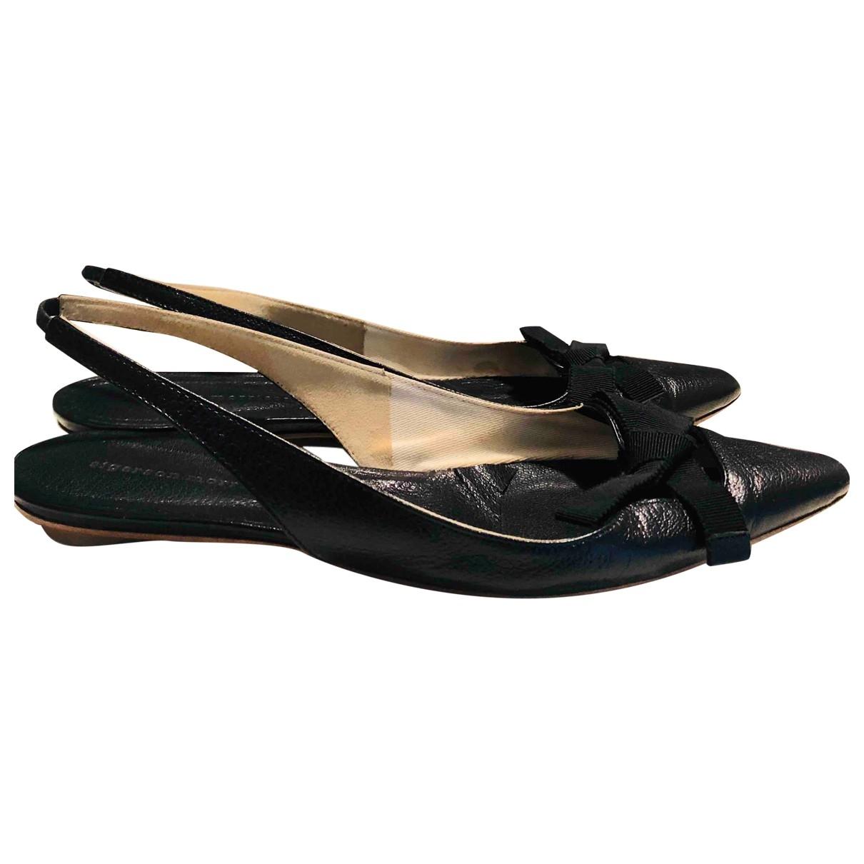 Sigerson Morrison \N Black Leather Ballet flats for Women 38 EU