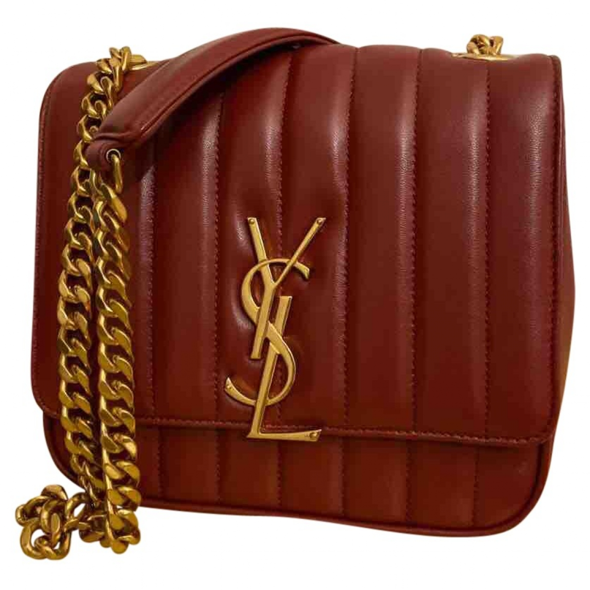 Saint Laurent Vicky Burgundy Leather handbag for Women \N