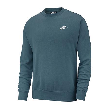 Nike Big and Tall Mens Crew Neck Long Sleeve Sweatshirt, 2x-large Tall , Green