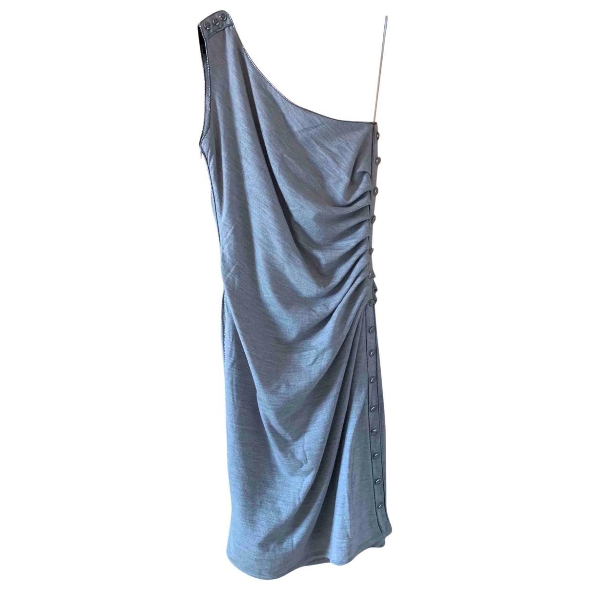 Azzaro \N Grey Wool dress for Women 38 FR