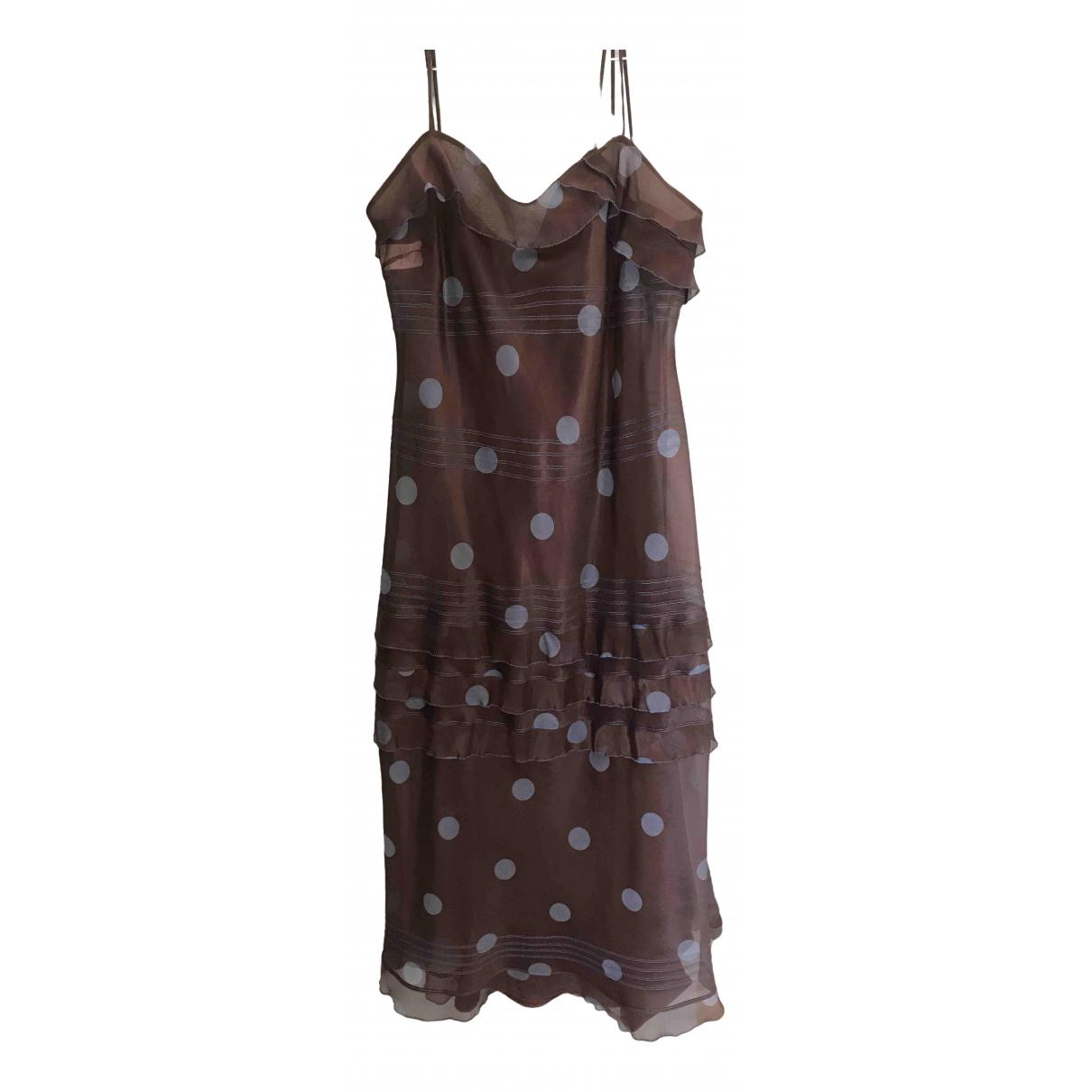 Alberta Ferretti \N Kleid in  Braun Seide