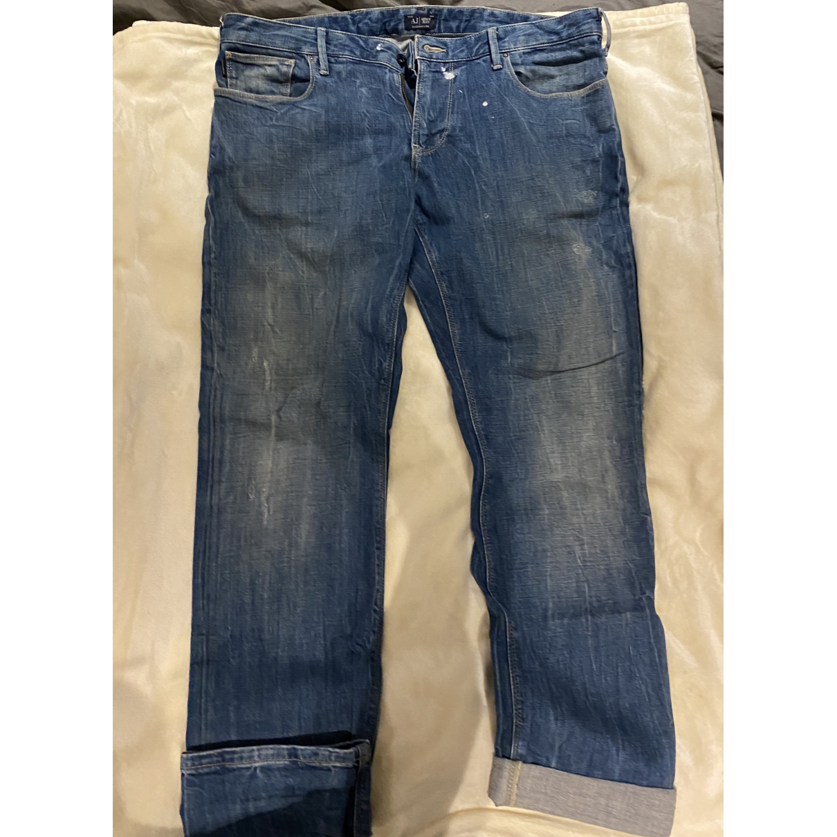 Armani Jeans \N Blue Cotton - elasthane Jeans for Men 36 US