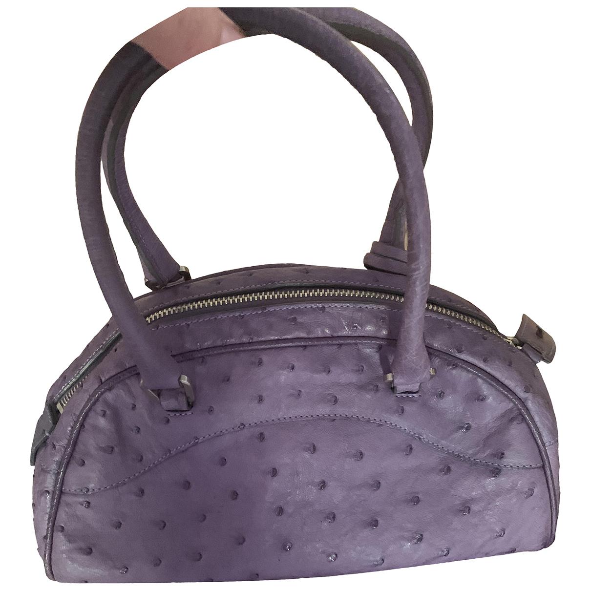 Prada \N Handtasche in  Lila Vogelstrauss