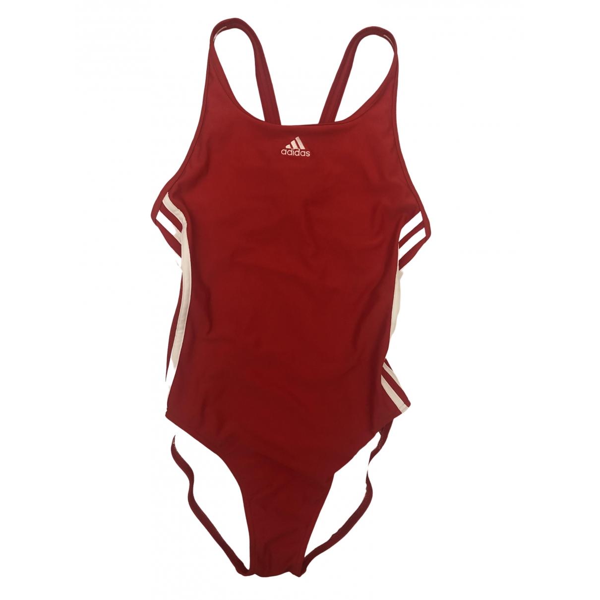 Adidas \N Badeanzug in  Rot Baumwolle - Elasthan