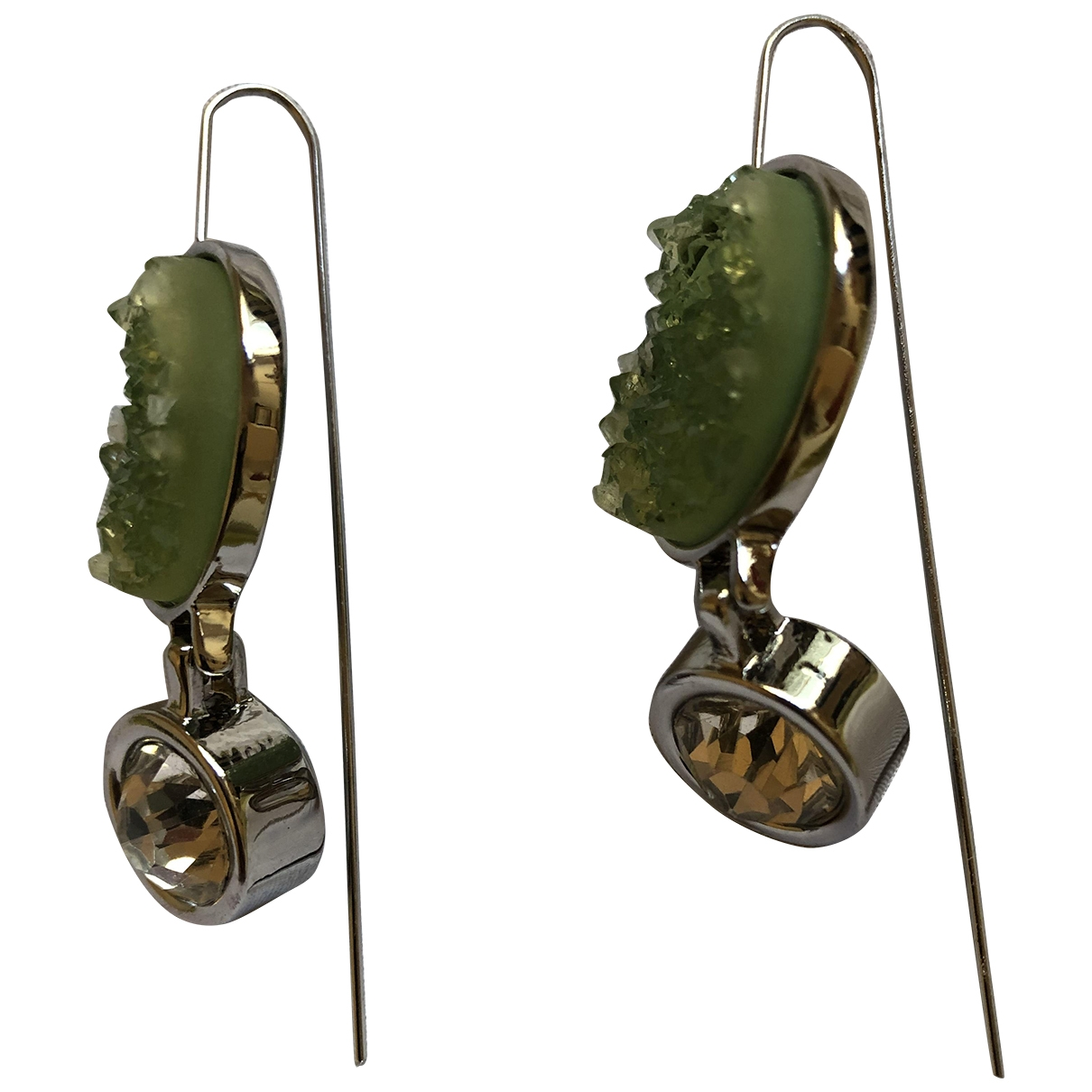 & Other Stories - Boucles doreilles   pour femme en cristal - vert