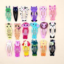 18pcs Toddler Girls Animal Pattern Hair Clip