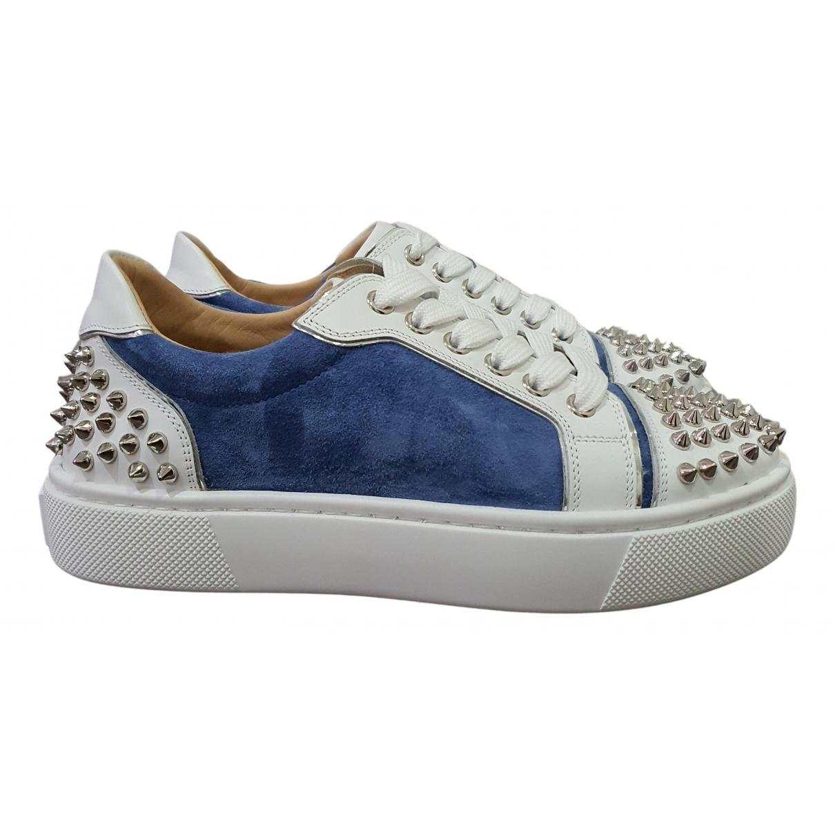 Christian Louboutin Gondolita Sneakers in  Blau Veloursleder