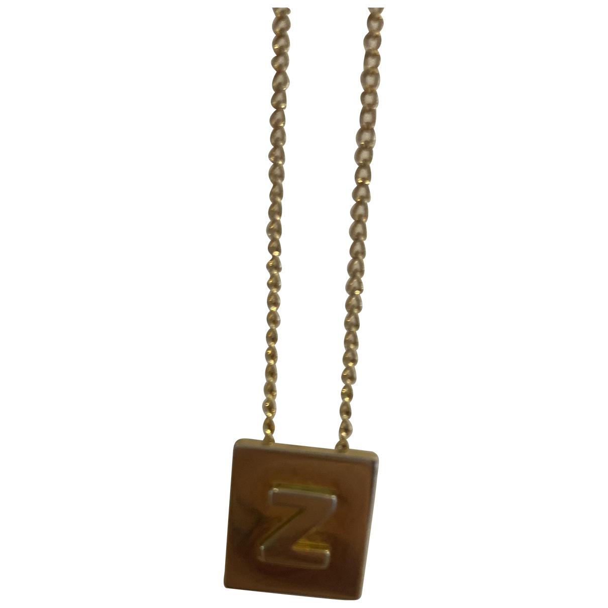 Celine - Collier Alphabet pour femme en metal - dore
